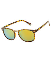 Classic Slim Tortoise & Gold Bridge Sunglasses