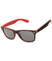 Classic Spec Touch Soft Red & Black Sunglasses