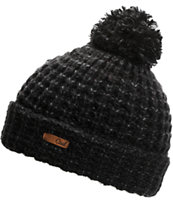 Coal Girls Kate Black Pom Fold Beanie
