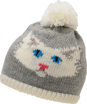 Coal Girls Kitty Grey Pom Beanie