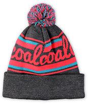 Coal Scribble Pom Beanie