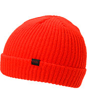 Coal Stanley Red Fold Beanie