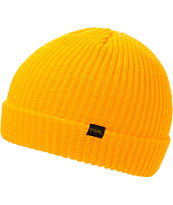 Coal Stanley Yellow Fold Beanie