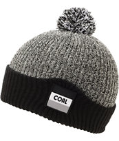 Coal Stanwood Black & Grey Pom Beanie