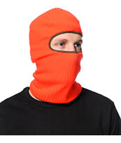 Coal Technical NWA Neon Orange Knit Balaclava Facemask