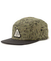 Coal The Creeper Printed Olive 5 Panel Hat