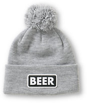 Coal Vice Beer Cuff Pom Beanie
