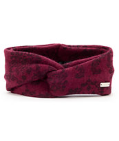 Coal Women's Josephine Burgundy & Floral Headband