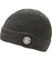 Coal x Shut Skateboards The Dual Charcoal Fold Beanie