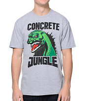 Concrete Jungle Godzilla Grey Tee Shirt