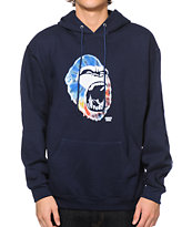 Concrete Jungle Gorilla City Teeth Tie Dye Hoodie
