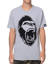Concrete Jungle Gorilla Teeth Grey Tee Shirt