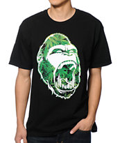Concrete Jungle Gorilla Teeth Leaf Tee Shirt