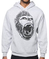 Concrete Jungle Gorilla Teeth Paisley Hoodie