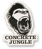 Concrete Jungle Gorilla Teeth Sticker