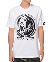 Concrete Jungle Lion Insignia White Tee Shirt