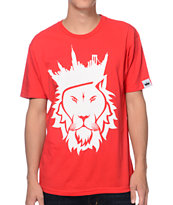 Concrete Jungle Lion Red Tee Shirt