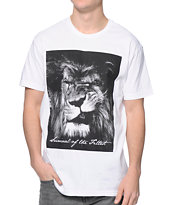 Concrete Jungle Lion Swagger White Tee Shirt