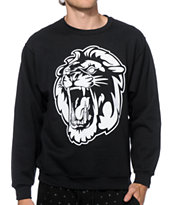 Concrete Jungle Lion Teeth Crew Neck Sweatshirt