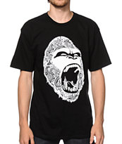 Concrete Jungle Paisley Gorilla Teeth Tee Shirt