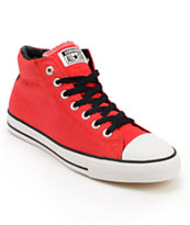 Converse x Santa Cruz CTS Mid Red, White, & Black Skate Shoes