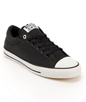 Converse x Santa Cruz CTS Ox Black & White Skate Shoes