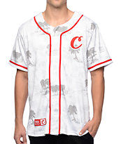 Cookies Tropical Varsity White Mesh Baseball Jersey