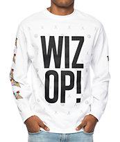 Cookies X Wizop Stacked camiseta blanca de manga larga