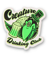 Creature Drinking Club Sticker