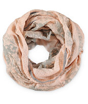 Cristals Floral & Lace Infinity Scarf