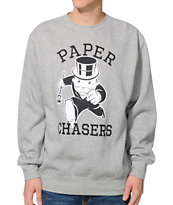 Crooks & Castles Monopoly Grey Crew Neck Sweatshirt