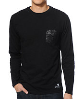 Crooks & Castles Python Black Pocket Long Sleeve Shirt