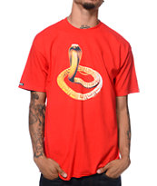 Crooks & Castles Snake Charmer Red Tee Shirt