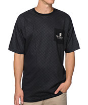 Crooks & Castles Thuxury Repeat Black Pocket Tee Shirt