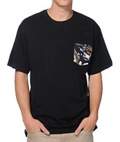 Crooks & Castles Timepiece Black Pocket Tee Shirt