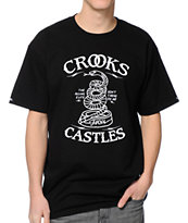 Crooks & Castles Tread On Me Black Tee Shirt