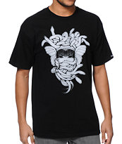 Crooks & Castles Vandal Medusa Black Tee Shirt