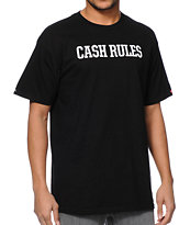 Crooks & Castles X Monopoly Cash Rules Black Tee Shirt