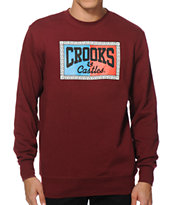 Crooks and Castles 3D Link Core Logo Crew Neck Sweatshirt