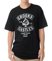 Crooks and Castles Air Gun Spade Black T-Shirt