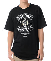 Crooks and Castles Air Gun Spade Black Tee Shirt