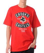 Crooks and Castles Air Gun Spade Red T-Shirt