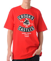 Crooks and Castles Air Gun Spade Red Tee Shirt