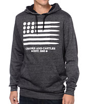 Crooks and Castles Ammo Flag Heather Black Pullover Hoodie