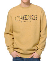 Crooks and Castles Ballin Mane Gold Crew Neck Sweatshirt