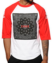 Crooks and Castles Bandit Block Baseball Tee Shirt