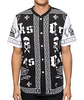 Crooks and Castles Black Order Baseball Jersey