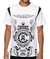 Crooks and Castles Black Order Football Jersey T-Shirt