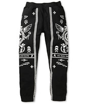 Crooks and Castles Black Order Sweat Pants