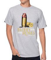 Crooks and Castles Blood Roses Grey Tee Shirt